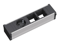 Bachmann CONI 1xSchuko & 2xEmpty Power strip - ALU - Short 912.002 - eet01