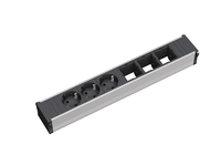 Bachmann CONI 3xSchuko & 3xEmpty Power strip - ALU - 912.006 - eet01