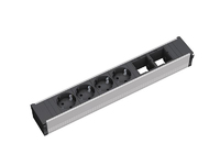 Bachmann CONI 4xSchuko & 2xEmpty Power strip - ALU - 912.007 - eet01