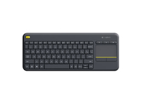 Logitech K400Plus Keyboard, UK Wireless Touch, Black 920-007143 - eet01