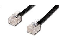 MicroConnect TEL 6P4C/RJ11Black 3m Unshielded 93068 - eet01