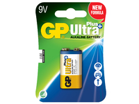 GP Batteries ULTRA PLUS ALKALINE  9V Blister with 1 battery. 9V 9V 1-P 1604AUP - eet01