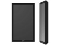 "SMS Casing Wall 22"" - Black (RAL 9005) w/Wall mount & A7832001-1A - eet01"