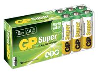 GP Batteries SUPER ALKALINE AA/LR6 Box with 16 batteries. 1,5V AA 16-P 15A - eet01