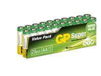 GP Batteries SUPER ALKALINE  AA/LR6 Bundle of 20 batteries. 1,5V AA 20-P 15A - eet01
