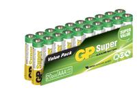 GP Batteries SUPER ALKALINE  AAA/LR03 Bundle of 20 batteries. 1,5V AAA 20-P 24A - eet01