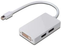 Digitus Mini DP, DP+HDMI+DVI Male/Female, White, 0.2m AK-340509-002-W - eet01