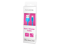 ADATA Lightning & Sync Cable Blue For iPod, iPhone, iPad AMFIPL-100CM-CBL - eet01