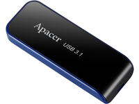 Apacer USB3.1 Gen1 Flash Drive AH356 64GB Black RP AP64GAH356B-1 - eet01
