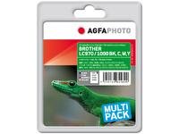 APB1000SETD AgfaPhoto Ink, rpl LC970 Set, LC1000 Set BK,C,M,Y, Pages 7.924, 80ml - eet01