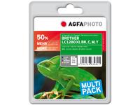 APB1280XLSETD AgfaPhoto Ink B/C/M/Y 1x55ml - 3x15ml - eet01
