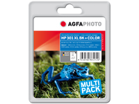 AgfaPhoto Ink BK+CO, rpl HP No. 301 XL Black+Color, Pages 530+340 APHP301XLSET - eet01