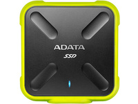 ADATA 256GB SD700 SSD, Yellow Durable External ASD700-256GU3-CYL - eet01