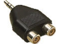 AUDALH MicroConnect Adapter 3.5mm - 2xRCA M-F Stereo - eet01
