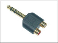 MicroConnect Adapter 6.3mm - 2XRCA M-F Stereo AUDANH - eet01