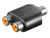 MicroConnect Adaptor RCA - 2xRCA  F-F  AUDCFF - eet01