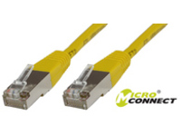 B-FTP501Y MicroConnect FTP CAT5E 1M YELLOW PVC 4x2xAWG 26 CCA - eet01