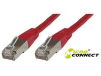 B-FTP603R MicroConnect FTP CAT6 3M RED PVC 4x2xAWG 26 CCA - eet01
