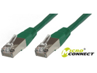 MicroConnect FTP CAT6 10M Green PVC 4x2xAWG 26 CCA B-FTP610G - eet01