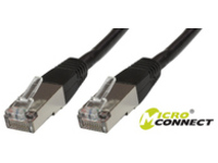 B-FTP610S MicroConnect FTP CAT6 10M BLACK PVC 4x2xAWG 26 CCA - eet01