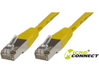 MicroConnect S/FTP CAT6 1m Yellow PVC PiMF (Pairs in metal foil) B-SFTP601Y - eet01