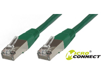 MicroConnect S/FTP CAT6 2m Green PVC PiMF (Pairs in metal foil) B-SFTP602G - eet01