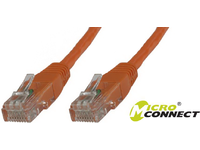 MicroConnect U/UTP CAT6 0.25M Orange PVC Unshielded Network Cable, B-UTP60025O - eet01