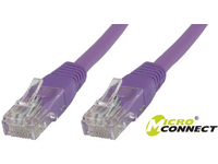 MicroConnect U/UTP CAT6 0.25M Purple PVC Unshielded Network Cable, B-UTP60025P - eet01
