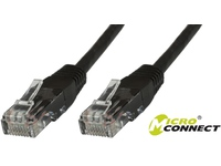 MicroConnect U/UTP CAT6 0.25M Black PVC Unshielded Network Cable, B-UTP60025S - eet01