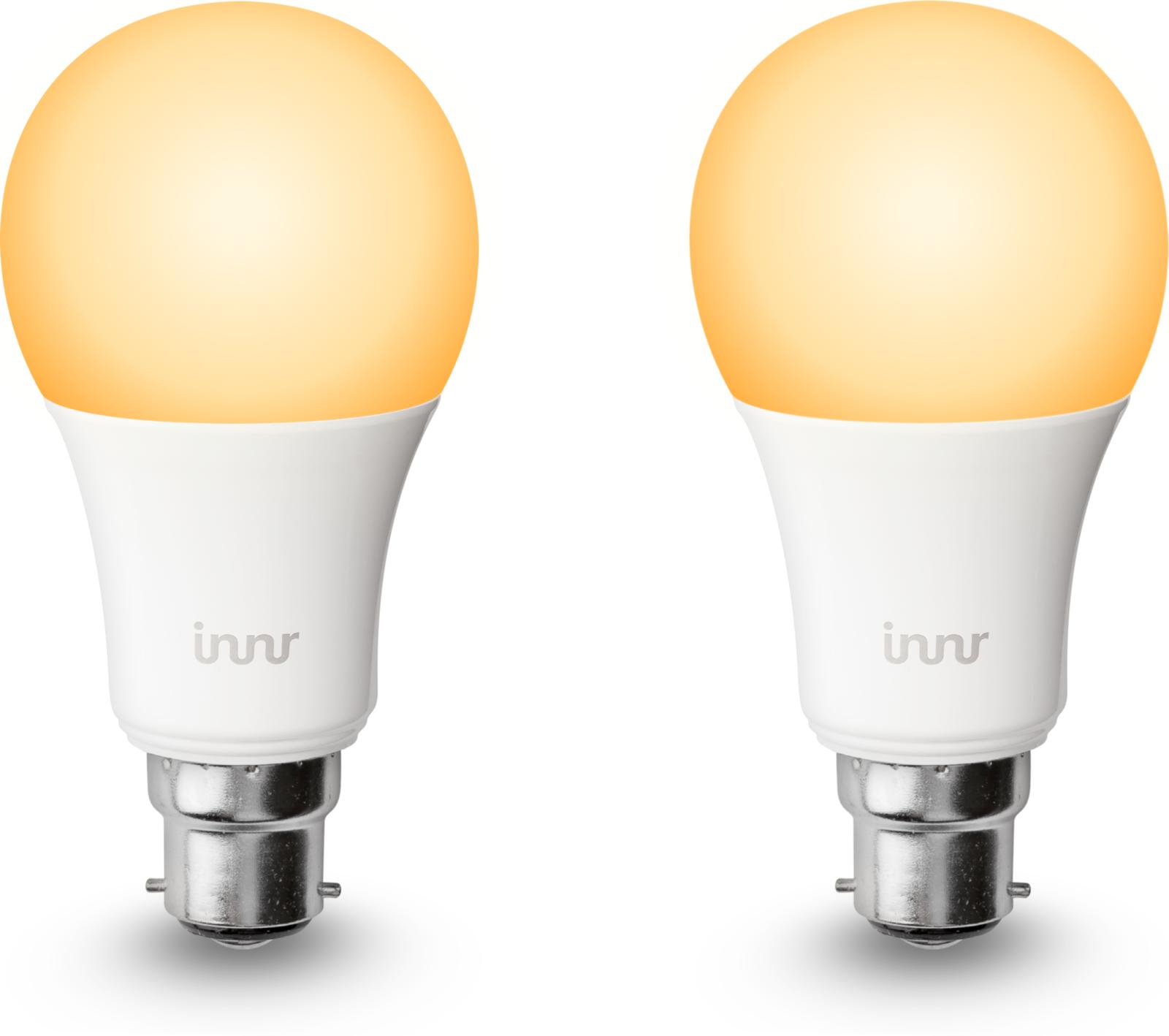 INNR Lighting 2x B22 smart led lamp, 2200K-5000K tunable white BY 178 T-2 - eet01