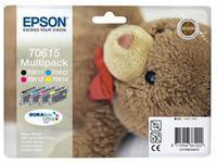 Epson Ink Quad Pack B+C+M+Y ( 32ml ) Pages 3x250+230 ( No. T0615 ) C13T06154010 - eet01