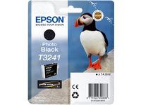 Epson HI-GLOSS2 T3241 PUFFIN SINGLEPACK 1X14.0MLBLACK C13T32414010 - eet01