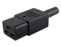 MicroConnect IEC Power Adaptor C19 Plug C19 Socket, Straight, Black C19PLUG - eet01