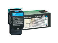 C544X1CG Lexmark Cyan Return Program Print Pages 4.000 - eet01
