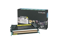 Lexmark Toner Yellow High Capacity Pages 10.000 C736H1YG - eet01