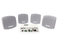 Ecler Micro Amp & Speaker Bundle - 1x eCA120 (2x60W) amplifier & CECA120+CAUDEO103WH - eet01