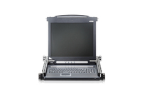 "Aten Slideaway console 17"" LCD FRENCH KEYBOARD CL1000M-ATA-2XK06FG - eet01"