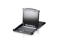 "Aten 8 Port KVM with 17"" LCD Support PS/2,USB, SUN CL1008M-ATA-2XK07SGG - eet01"