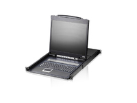 "Aten 8-Port 19"" LCD KVM Switch (USB - PS/2 VGA) CL1308N-ATA-2XK06ITG - eet01"