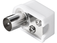 MicroConnect Coax angle plug with screw (plastic) (slim) with COAXADAPTERA1 - eet01