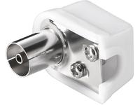 MicroConnect Coax angle jack with screw (plastic) (slim) with COAXADAPTERAF1 - eet01