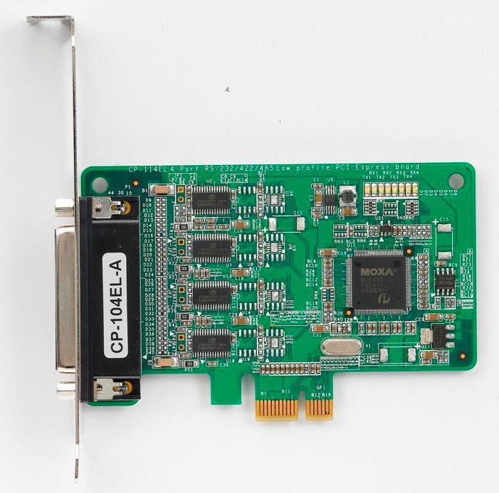 Moxa PCI EXPRESS KORT, 4 PORT RS-23 CP-104EL-A-DB-9M, SURGE PROTEC CP-104EL-A-DB9M - eet01