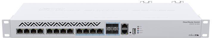 MikroTik Cloud Router Switch w/ OS 5L 1U rackmount enclosure CRS312-4C+8XG-RM - eet01