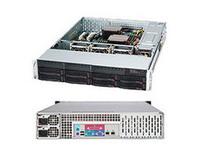 "Supermicro 2U, 720W PS (redundant, Gold Level), 8x 3.5"" Hot-swap CSE-825TQ-R720LPB - eet01"