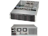 "Supermicro 3U, 1000W PS (red. Tit. Level) 16x 3.5"" Hot-swap drive bays, CSE-836BE1C-R1K03B - eet01"