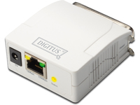 Digitus Parallel Print Server. 1-Port 1x RJ45. 1x DB-36-pin male DN-13001-1 - eet01