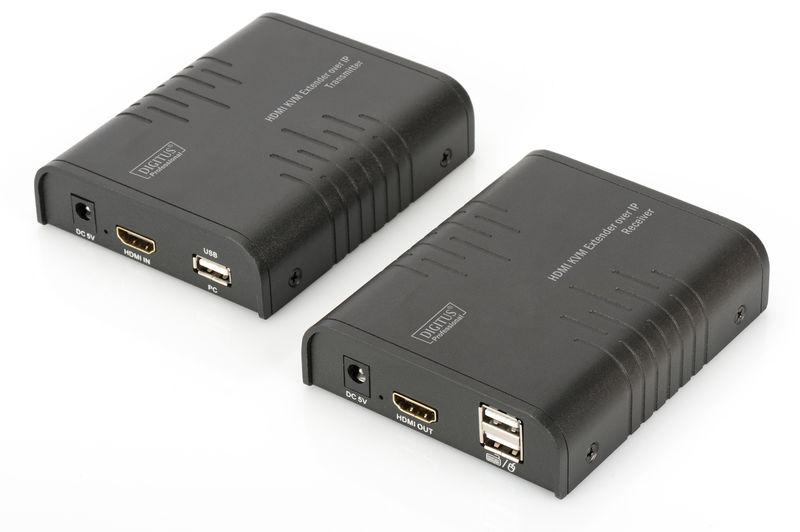 Digitus HDMI KVM Extender over IP, Set  DS-55202 - eet01
