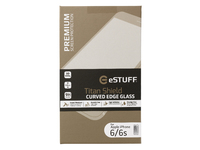 ESTUFF TitanShield iPhone 6/6S 3D Curved Edge  Full Cover Glass ES10002-3D-WHITE - eet01