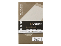 ESTUFF TitanShield iPhone 6+/6S+ 3D Curved Edge  Full Cover Glass ES10003-3D-WHITE - eet01