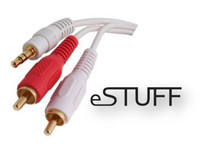 ES2057 ESTUFF Audio 3.5mm - RCA M-M 1.8m Male-Male, Mac audio cables - eet01